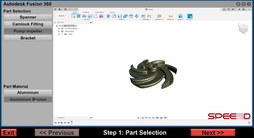 Part-in-Autodesk_SPEE3DCraft_SPEE3D